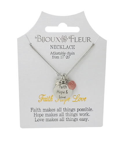 Faith Hope Love Personalised Necklace