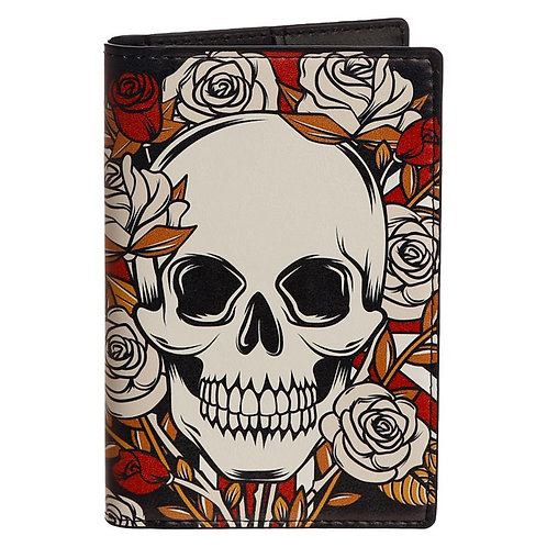 Skulls and Roses Passport and Cards Holder and Luggage Tag Set