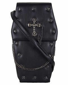 Metal Cross Coffin backpack