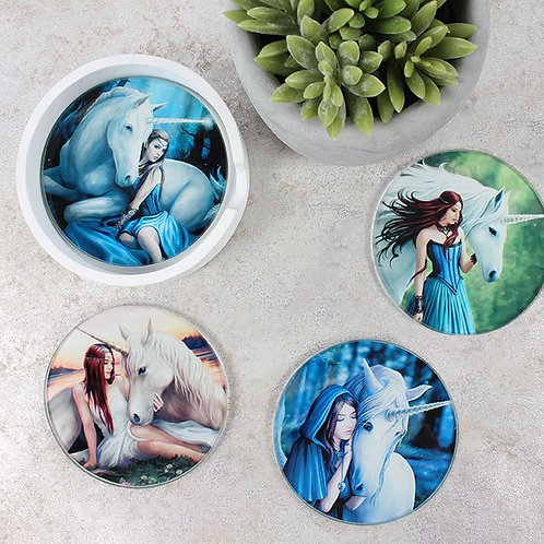Glass Coasters By Anne Stokes