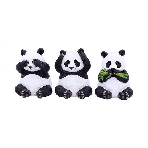 Three Wise Pandas