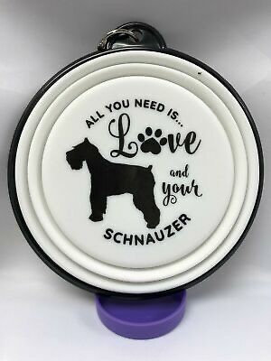 Schnauzer collapsible dog bowl