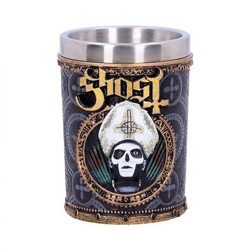 Licensed Ghost Papa Emeritus III Gold Shot Glass
