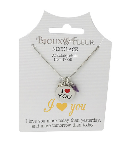I Love You Personalised Necklace