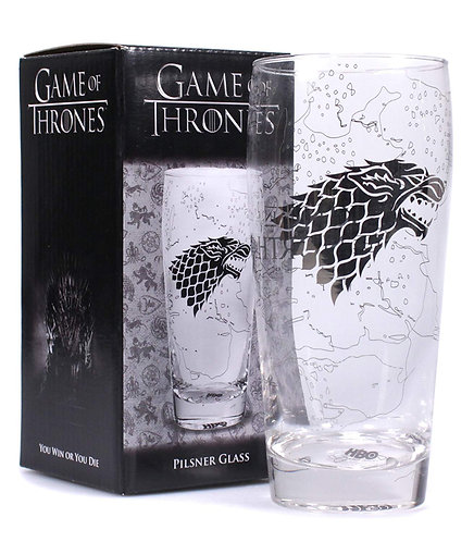 Game of Thrones Pilsner Glass - King in The North