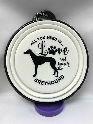 Greyhound collapsible dog bowl