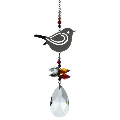 Robin Hanging Crystal
