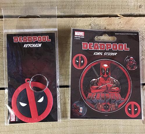 Deadpool Keyring and Sticker