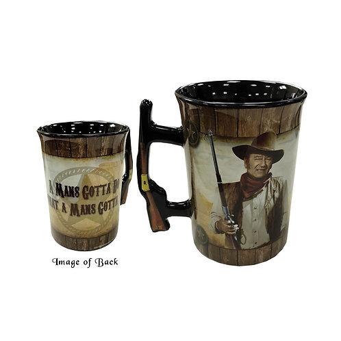 John Wayne Mug 'A Man's Gotta Do'