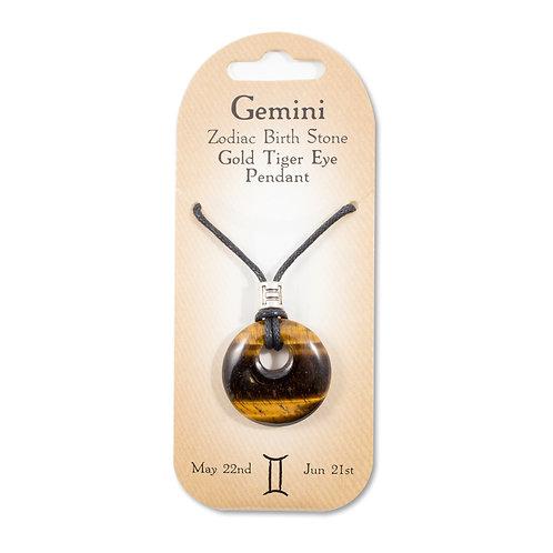 Gemini, Zodiac Birth Stone, Necklace / Bracelet / Keyring (Tiger Eye)