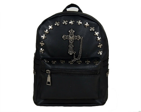 Mini Gothic Metal Cross Bag with Studs