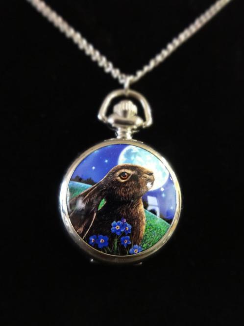 Moon gazing hare pendant watch aloadofball Gallery