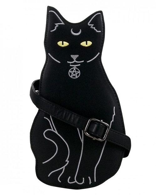 Gothic Pagan Black Cat Bag