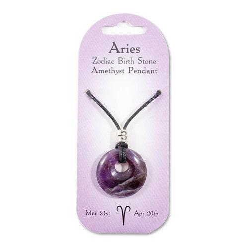 Aries, Zodiac Birth Stone, Necklace / Bracelet / Keyring (Amethyst)