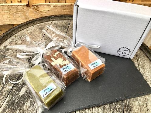 3 Bar Fudge Gift Box