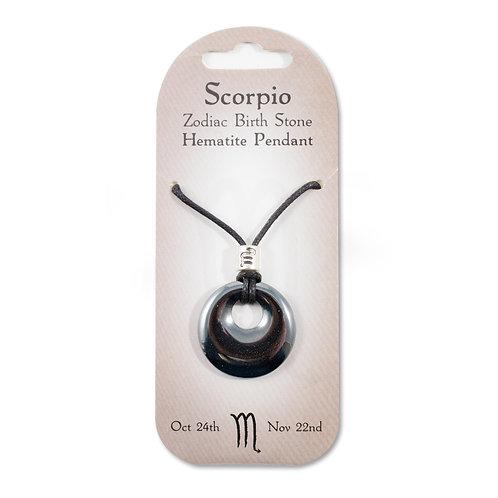 Scorpio, Zodiac Birth Stone, Necklace / Bracelet / Keyring (Hematite)