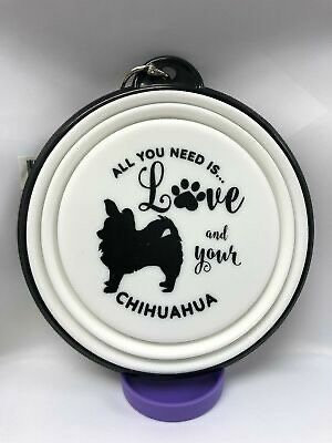 Chihuahua collapsible dog bowl