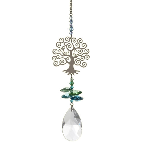 Tree of Life Hanging Crystal