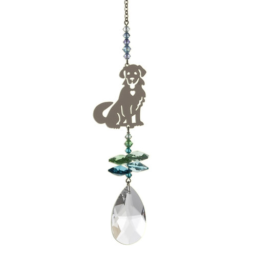 Puppy Hanging Crystal