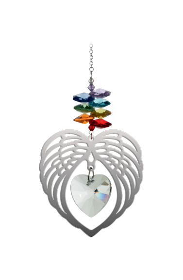Large Angel Wing Heart Chakra
