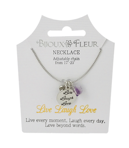 Live Laugh Love Personalised Necklace