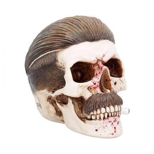 Blood Spattered Criminal Henchman Skull Smoking