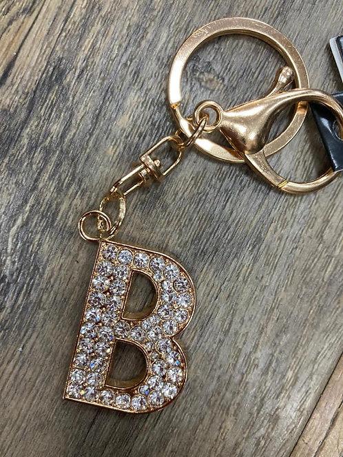 Keyring/ Bag Charm Letter B