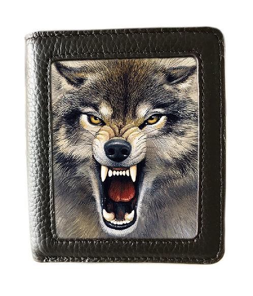 Wolf Wallet 3D Lenticular