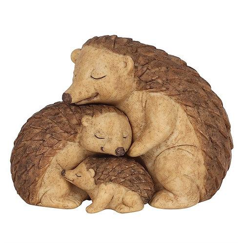 Hedgehog family ornament