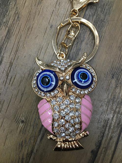 Big eyed Owl Keyring/ Bag Charm