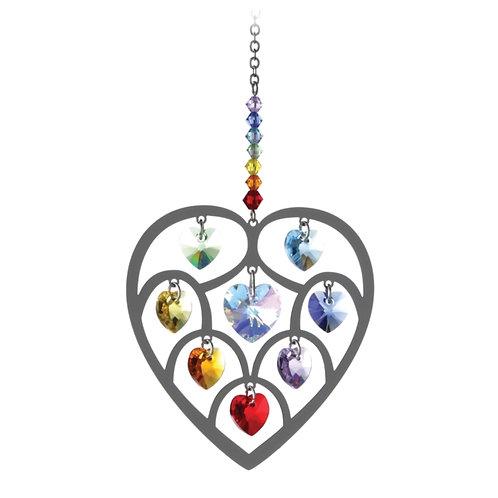Chakra Heart Hanging Crystal