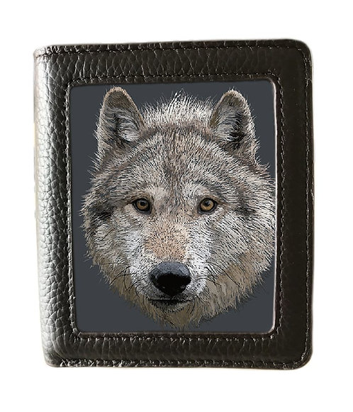 Wolf Stare Wallet Lenticular 3D