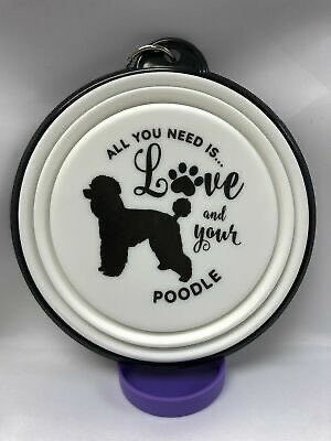 Poodle collapsible dog bowls
