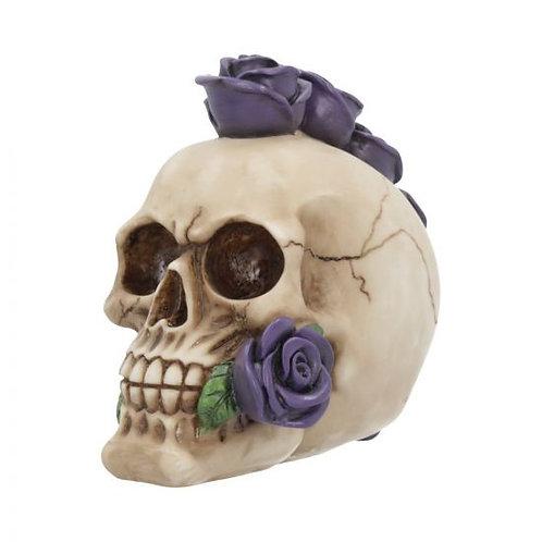 Purple Rosehawk Mohawk Skull