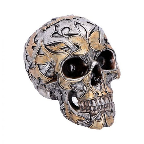 Tribal Traditions Large Metallic Skull
