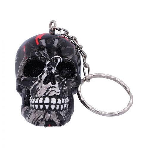Black Haze Skull Keyring