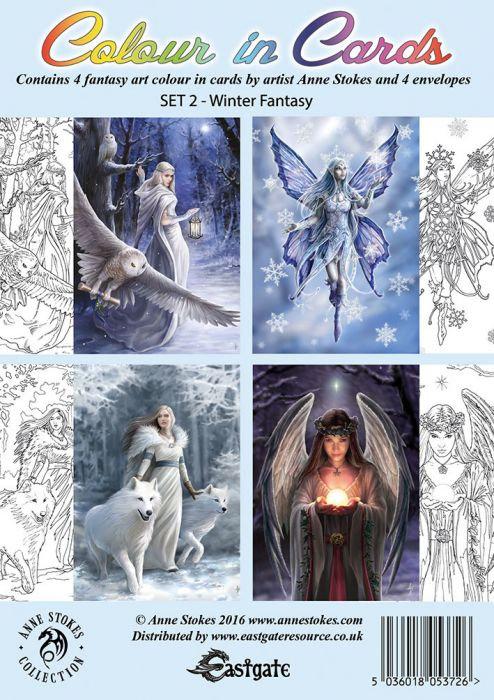 Winter Fantasy Colour In Cards