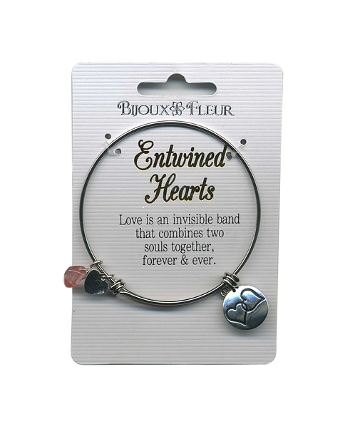 Entwined Hearts Personalised Bangle