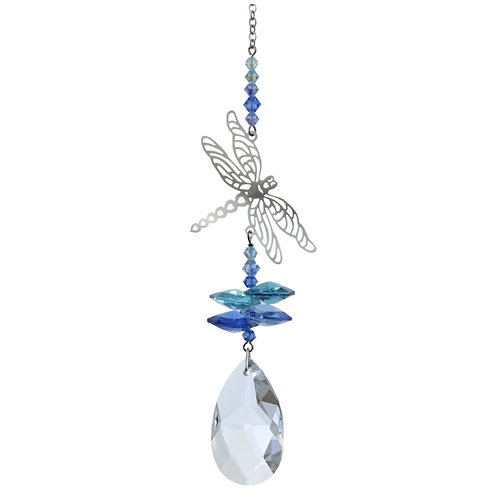 Dragonfly Hanging Crystal