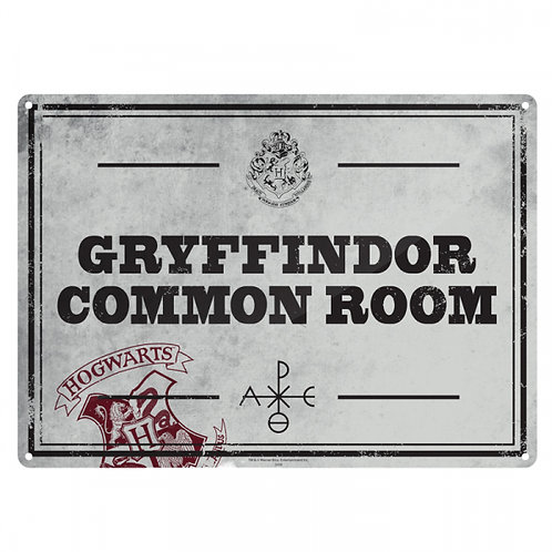 Harry Potter Sign - Gryffindor Common Room