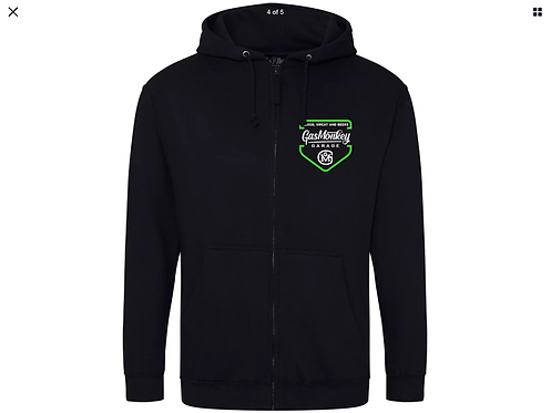 "Gas Monkey ""green shield zip"" hoodie"