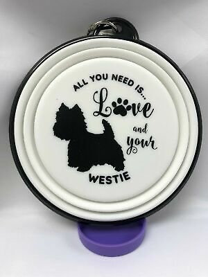 Westie collapsible dog bowl