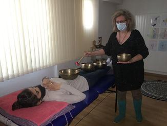 Bols tibétains- Cristal chromotherapie.J