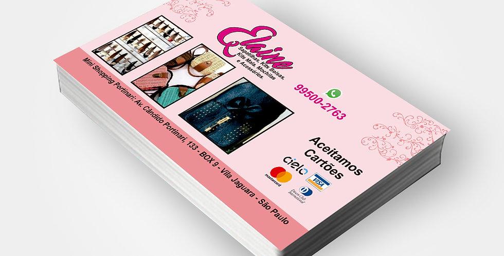 Cartão de Visita - 4x0 Cores - 1.000 unidades