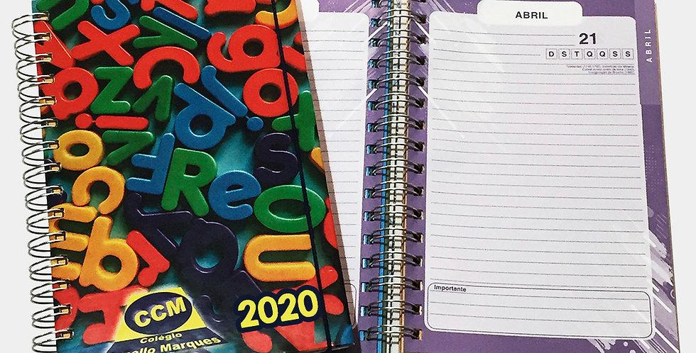 Agenda Escolar Permanente - 1 dia por página - Personalizada