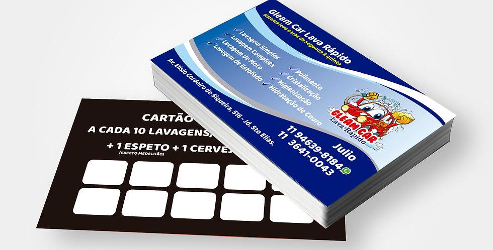 Cartão de Visita - 4x1 Cores - 1.000 unidades
