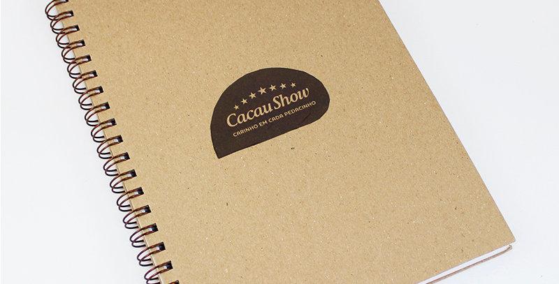 Caderno Executivo Grande - Kraft - Personalizado