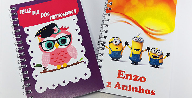 Mini Caderninho - Miolo Branco  - Personalizado