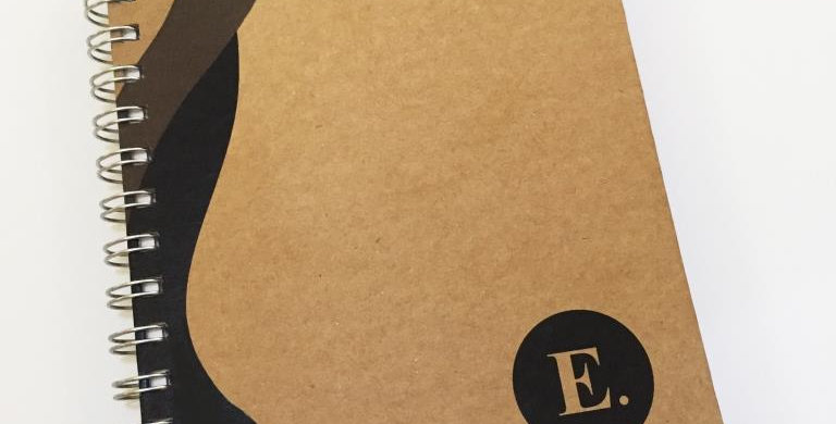 Caderno Executivo Pequeno - Kraft - Personalizado