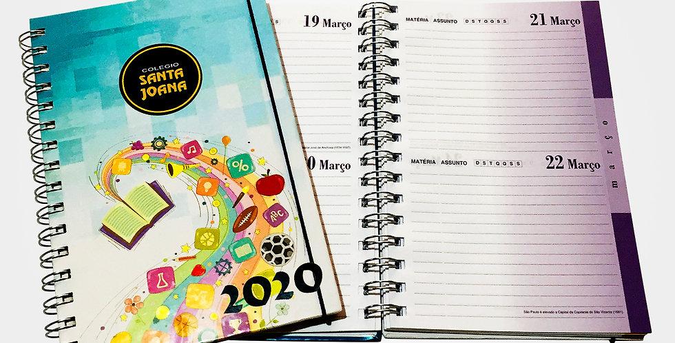 Agenda Escolar Permanente - 2 dias por página - Personalizada